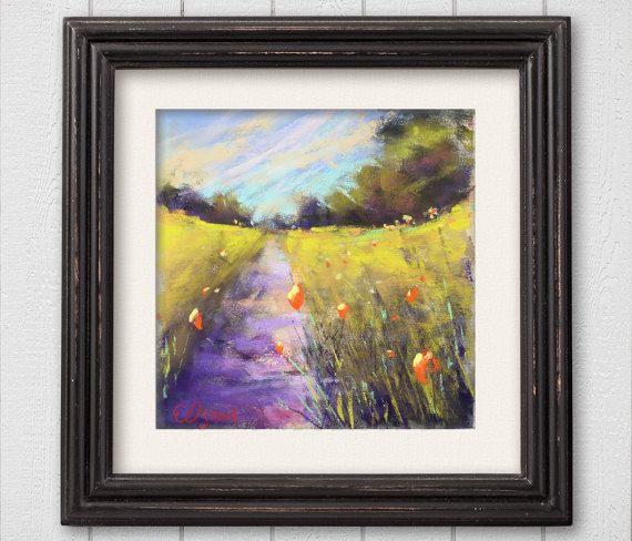 Original Pastel Painting Let's Walk by Bluishpurpletrees on Etsy