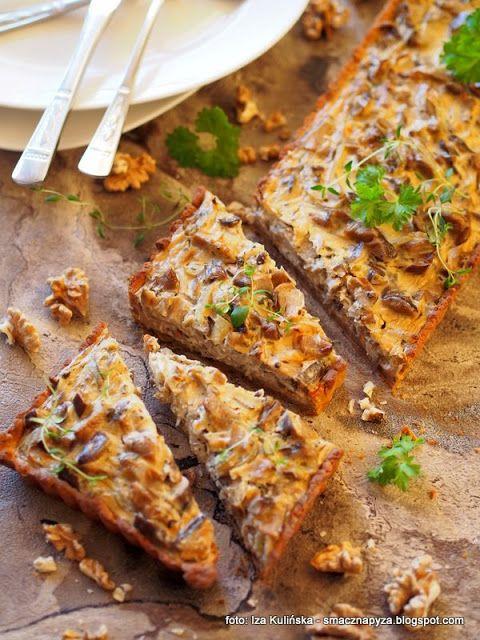 Smaczna Pyza: Tarta z boczniakami, kozim serem i orzechami #tarta #domowejedzenie #najlepszeprzepisy #smacznieitanio #smacznapyza #zapiekanka #zgrzybami #grzyby #serkozi