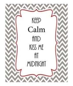 New Year's Eve KEEP CALM AND KISS ME AT MIDNIGHT