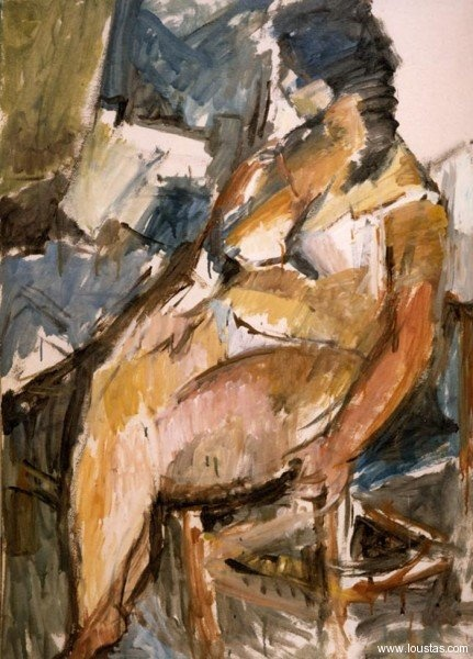 Nude, oil on hardboard, 1989, 110x75cm