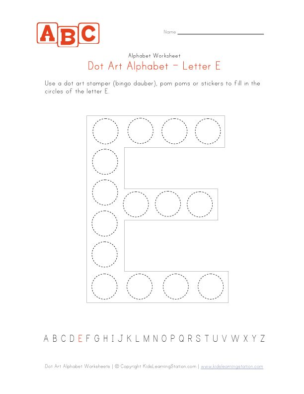 letter e dot art worksheet classroom necessities pinterest discover more ideas about art. Black Bedroom Furniture Sets. Home Design Ideas