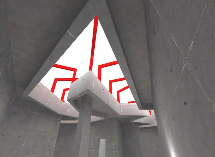 Diseño estructural del lucernario para el museo de arte moderno de Ceret (Francia)