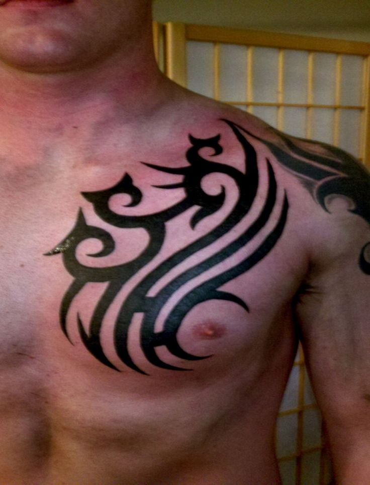 25 best ideas about tribal chest tattoos on pinterest christian cage tribal cross tattoos. Black Bedroom Furniture Sets. Home Design Ideas