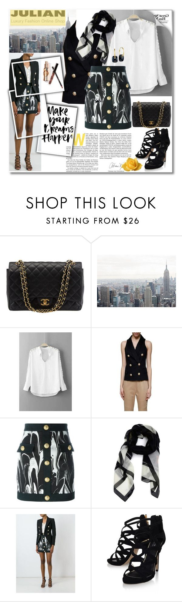 """""""JULIAN FASHION: Contest with prize"""" by andrea2andare ❤ liked on Polyvore featuring Chanel, Balmain, Givenchy, Carvela Kurt Geiger, Didi Jewellery and Julian"""