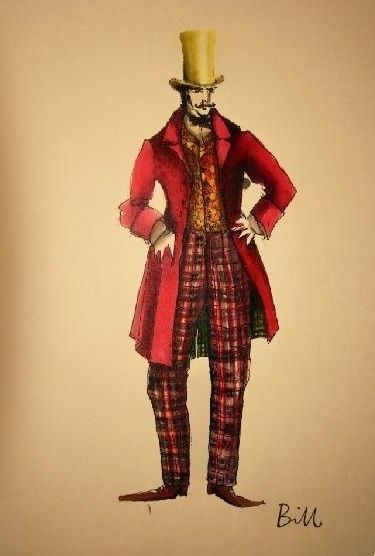 best gangs images inspirational photos music from award winning costume designer sandy powell here is her original costume drawing for bill the butcher daniel day lewis in gangs of new york
