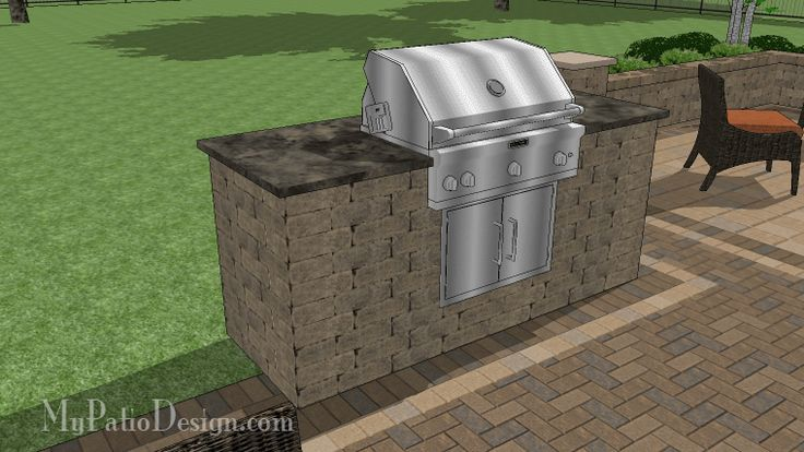 Gorgeous drop in grill station easy stack and glue for Drop in grills for outdoor kitchens