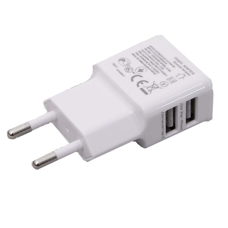 ΠΡΙΖΑ ΦΟΡΤΙΣΤΗΣ USB ΔΙΠΛΟ 2.1A P10 ΑΣΠΡΟ