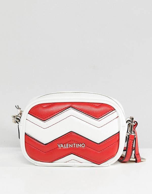 5ed1b7286 Valentino by Mario Valentino Red & White Chevron Cross Body Bag ...