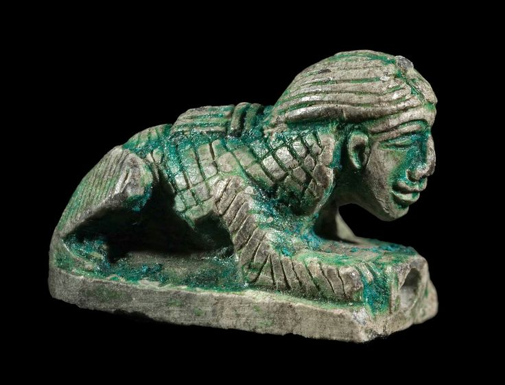 Steatite seal in the shape of a female sphinx. Late Middle Kingdom to Early New Kingdom. 1794–1492 B.C. | The Museum of Fine Arts, Boston