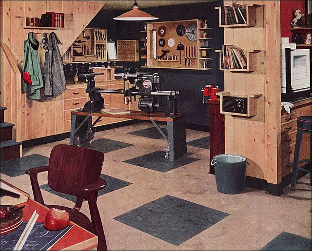 1951 Armstrong Basement By American Vintage Home Via Flickr