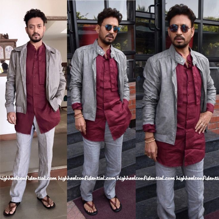Irrfan in Khanijo shirt, Marks & Spencer trousers, Celebrity fashion, Indian Style, celebrity style, Fashion, Indian Celebrity Fashion, Indian Fashion, Indian Celebrities, Indian Designer