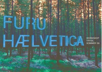 "Exhibiton with ""furuhælvetica"" at Doga, Oslo Norway"