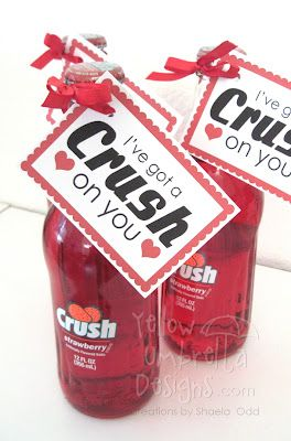 """I've Got a CRUSH on You!"" Valentines + Free Printable"