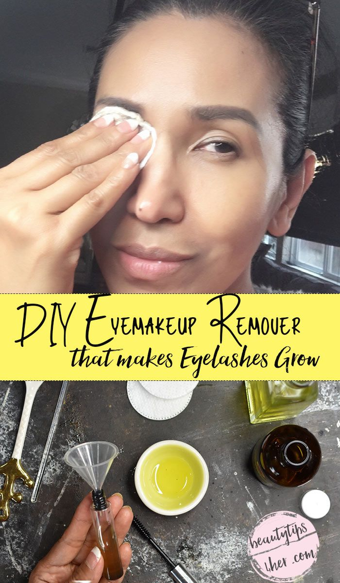 This DIY makeup remover & eyelash enhancer can easily melt away waterproof makeup and condition and stimulate eyelash growth