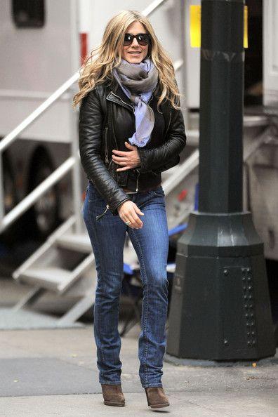 Jeans and blazer celebrity baby