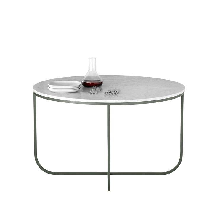 Tati matbord, runt - stormgrey / marmor