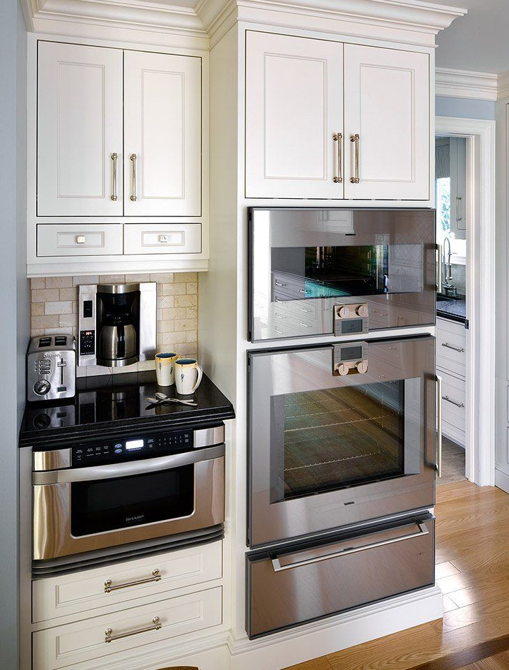 Best 25 microwave drawer ideas on pinterest kitchen for Built in oven kitchen cabinets