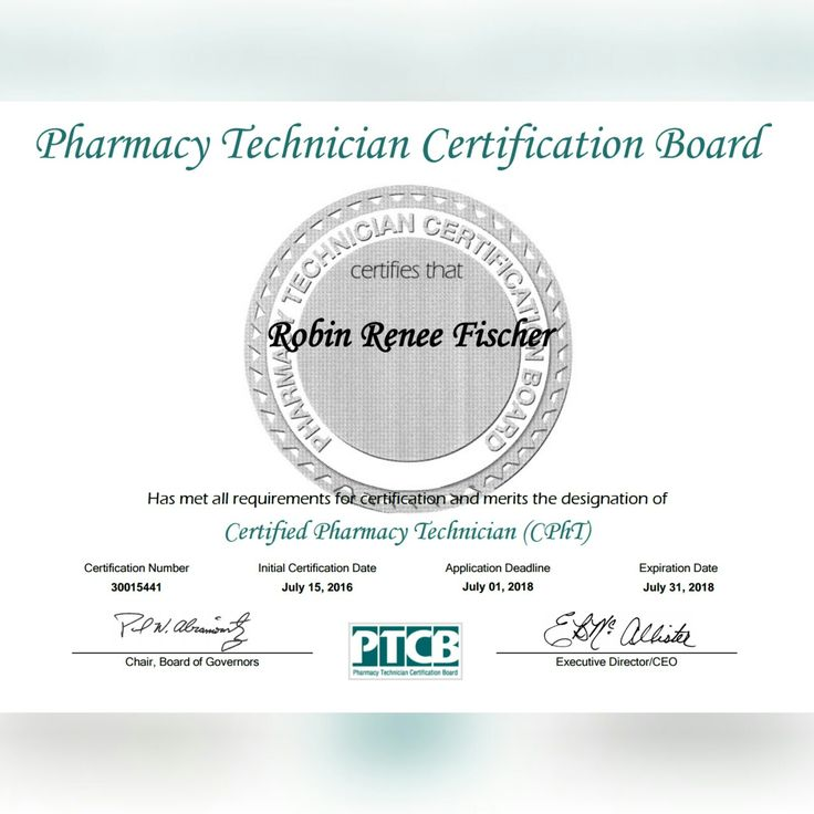 Free Resume Format Pharmacy Technician Certification Requirements