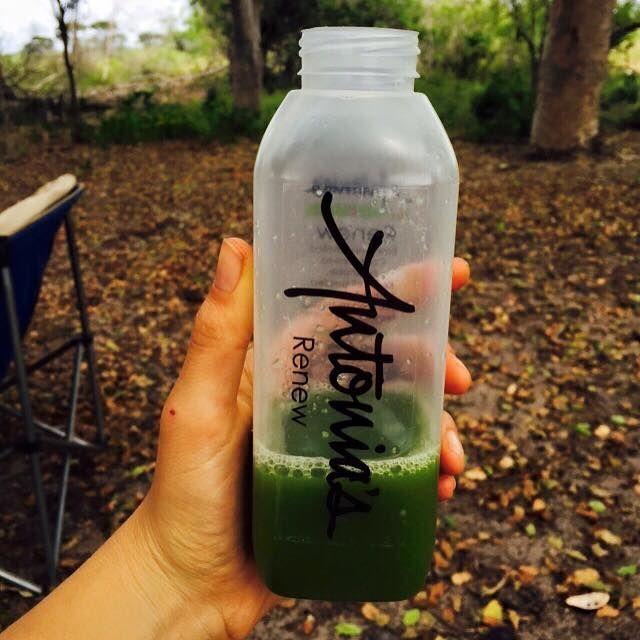 Delicious Renew Green juice from Antonia's Juice Cleanse Range.