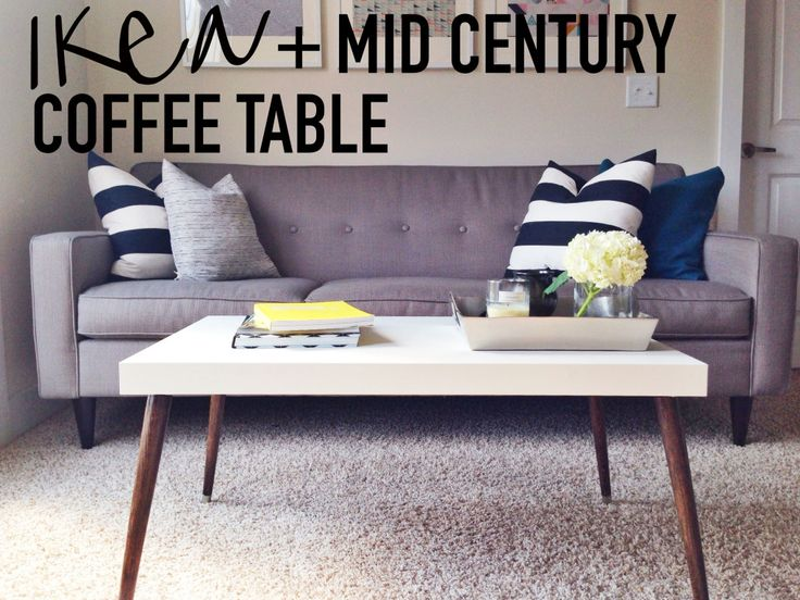 DIY IKEA Hack Mid-Century Modern Coffee Table on This Blonde Bee - 25+ Best Ideas About Ikea Coffee Table On Pinterest Ikea Lack