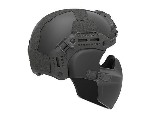 FLUX Ballistic helmet mandible protection