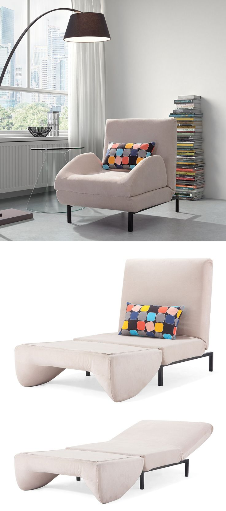 Fold out ottoman bed - Comfy Arm Chair That Folds Out To A Twin Sleeper