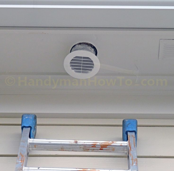 How To Install A Soffit Vent And Ductwork For A Bathroom