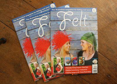 Felting books, felt magazine, felt instructions