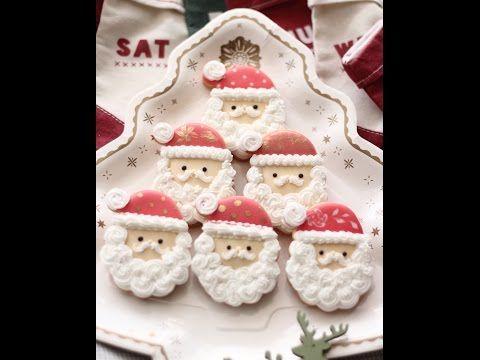 聖誕老公公餅乾教學 - YouTube