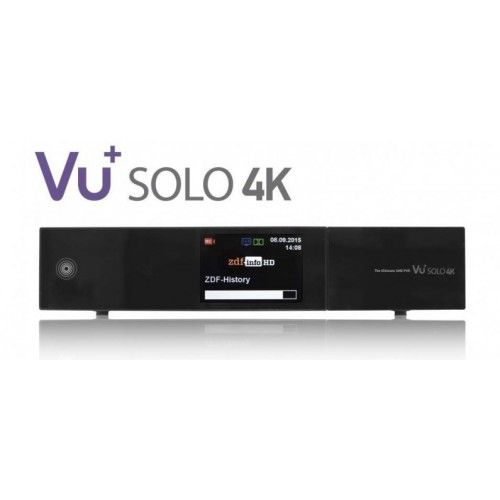 VU+ Solo 4k Twin Tuner DVB-S2 PVR Ready Twin Enigma2 Linux Receiver UHD 2160p