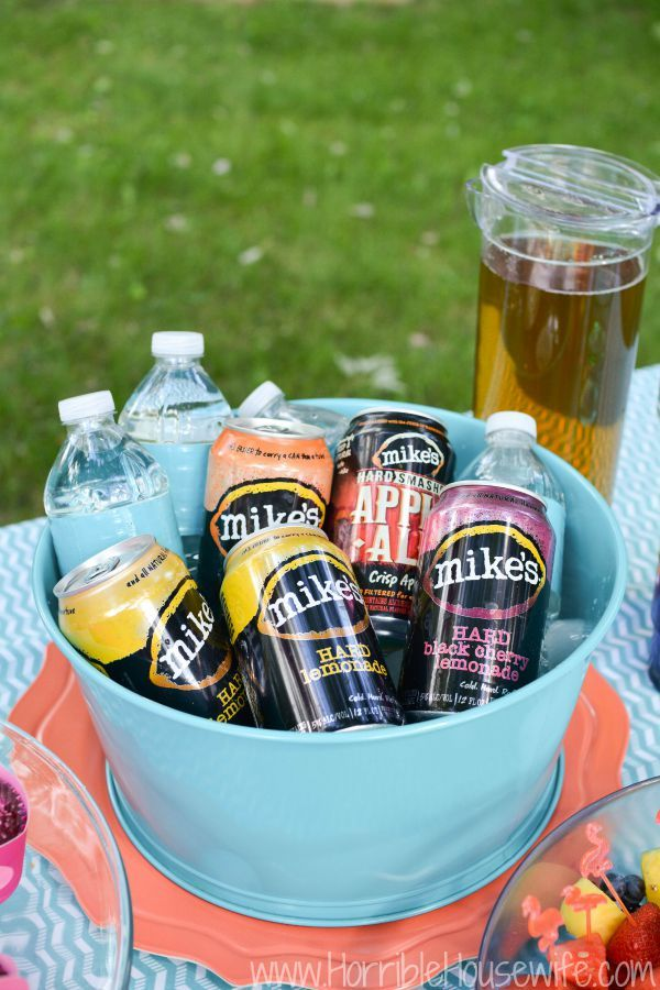 Mike's Hard Lemonade Flavors of America Party Pack is a great addition to your next pink flamingo party