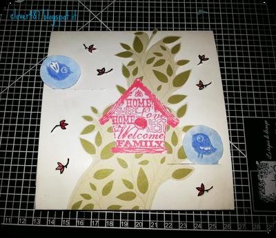 Clover happy-scrappy heart - carte toga, timbri Inkadinkado e Impronte d'autore. Wedding card