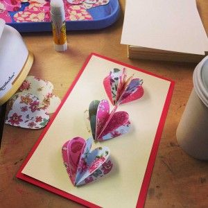 Pop Out Cards on a Budget... could also make a book out of heart shaped pages.