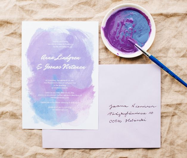 Free printable water color wedding invitations | Best Day Ever
