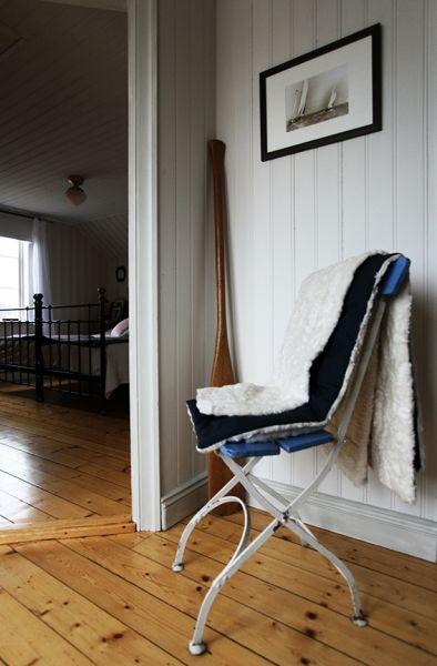 Monimo HOME Blanket White/Navy L 57,1 x 51,2 in (145 x 130 cm)