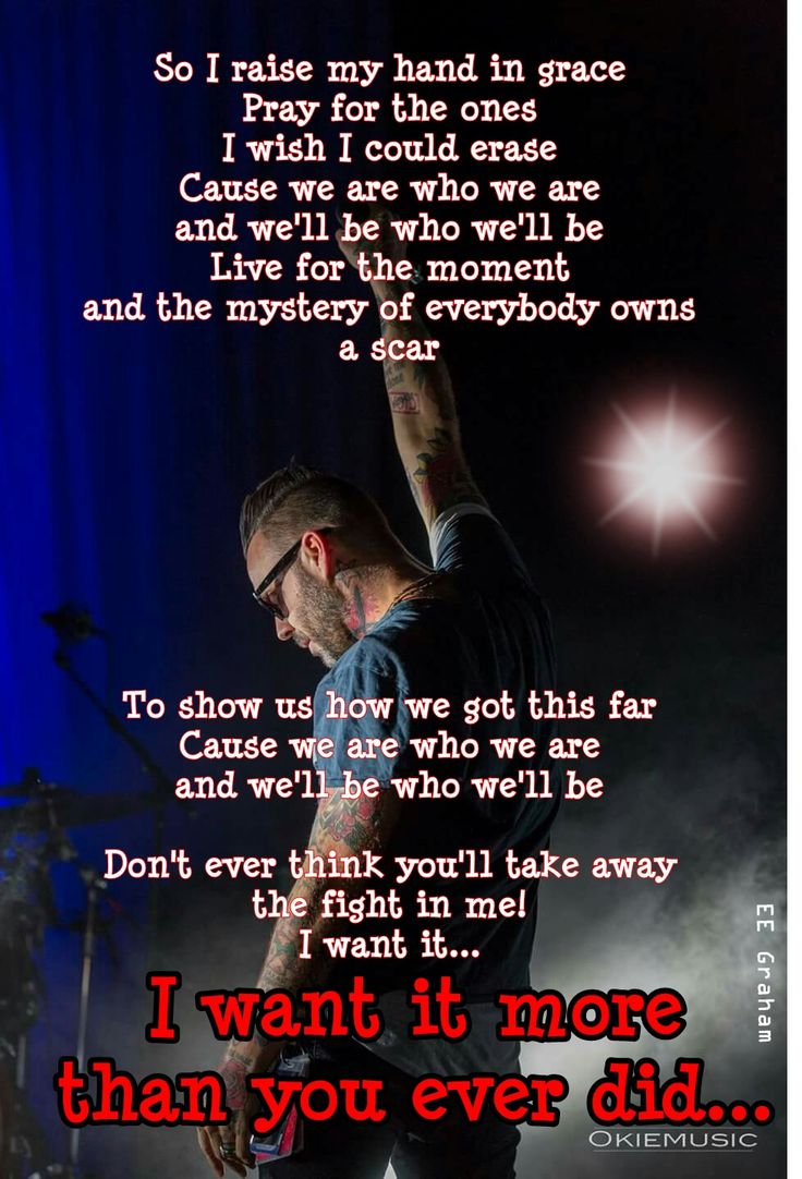 """""""I want it"""" by Blue October"""