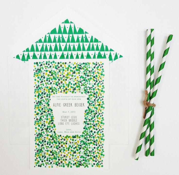 : Handmade Illustrations, Studios Baby, Patterns Invitations, Wedding, Baby Announcements, Baby Bloom, Green Patterns, Invitations National, Baby Shower