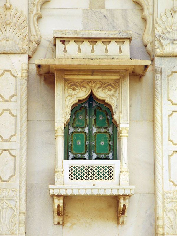 Rajasthani Window- Hindu architecture, India