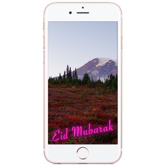 Snapchat Geofilter Eid Mubarak Neon Pink Sign by pepperbean