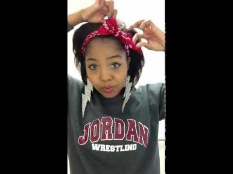 How to tie a cute bow around your head mad from a bandana! -Bandana (your choice of pattern or color) -Bobby Pin