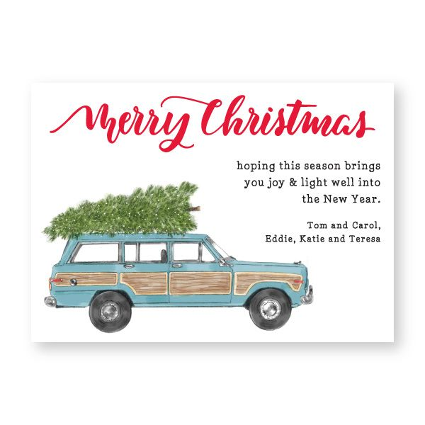 Vintage Jeep, Personalized Holiday Greetings  |  Donovan Designs