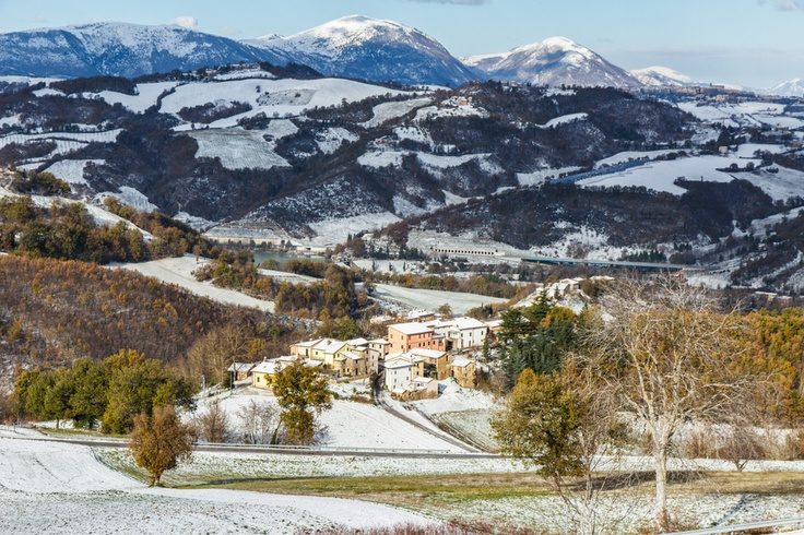 Snow in Marche region