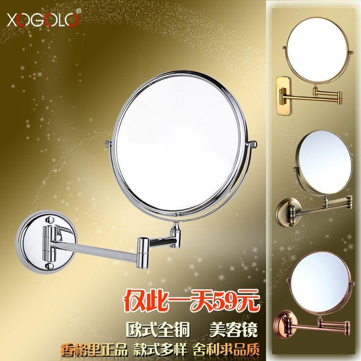 62.78$  Buy here - Xogolo beauty mirror wall bathroom makeup mirror double faced vanity mirror retractable folding mirror   #aliexpresschina