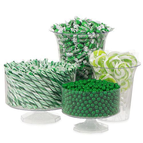 Green candy buffet decorating kit party supplies and