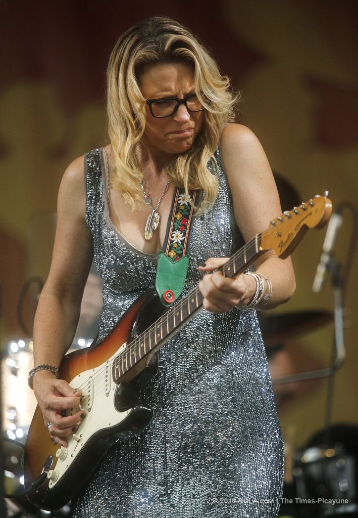 Susan Tedeschi of The Tedeschi Trucks Band plays on the Acura Stage at Jazz Fest on Thursday, April 28, 2016 in New Orleans