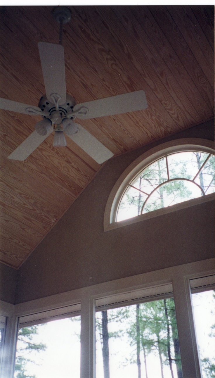 Vaulted Ceiling w/ Half Round Window | Porches | Pinterest ...