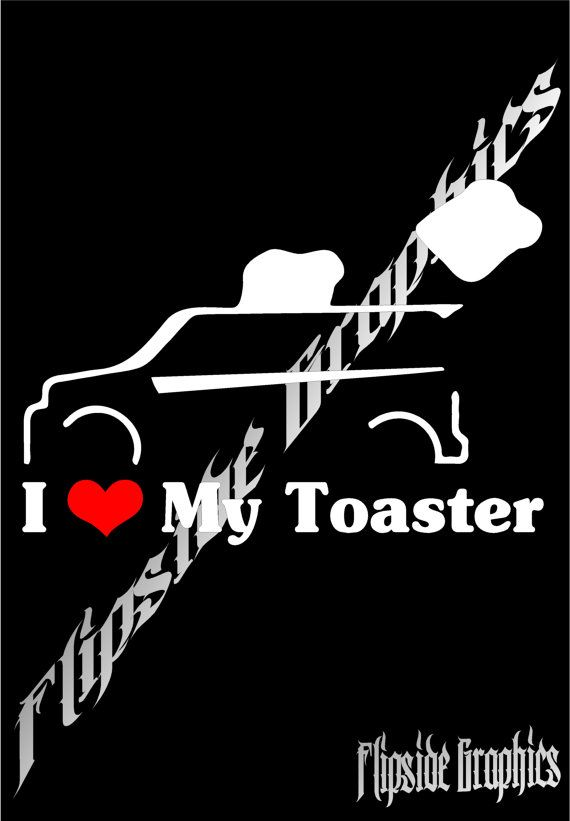 ***** FUNNY I LOVE MY TOASTER DECAL ***** Buy 1, get 1 free!!! These are brand new, custom designed, white, high quality decals/stickers you can apply to customize your windows, cars, trucks, school folders, binders & so much more.