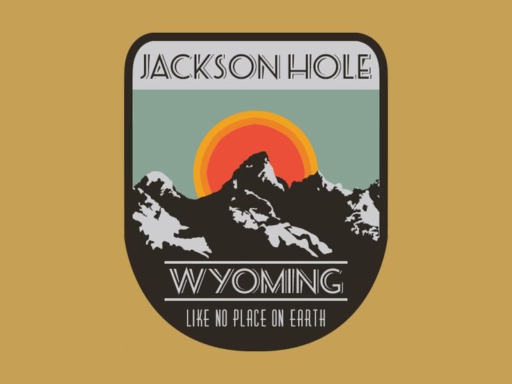 Jackson Hole sticker/patch by William Cunningham