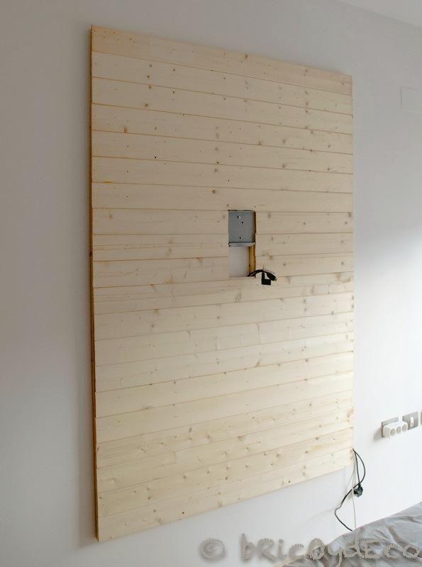 Cómo hacer un panel de madera para ocultar los cables de la televisión