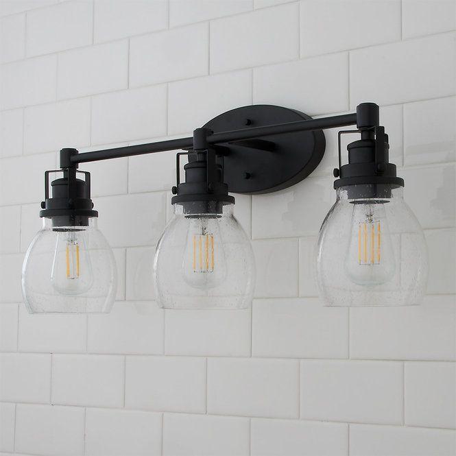 Soft Seeded Vanity Light 3 Light In 2020 Black Bathroom Light Fixtures Vanity Lighting Bathroom Light Fixtures Matte black bathroom light fixtures